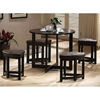 Rochester Brown Bar Table With Nesting Stools Dcg S