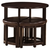 Rochester Brown Bar Table with Nesting Stools - WI-RT-130-PUB-STL