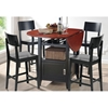 Dayton Drop Leaf Pub Table with 4 Counter Stools - WI-RT-189-5PC