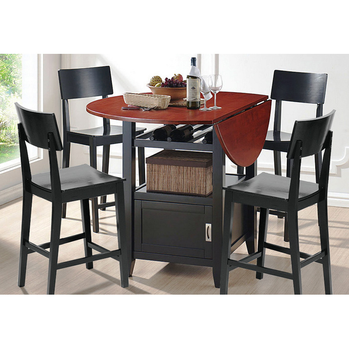 Dayton Drop Leaf Pub Table With 4 Counter Stools Dcg Stores