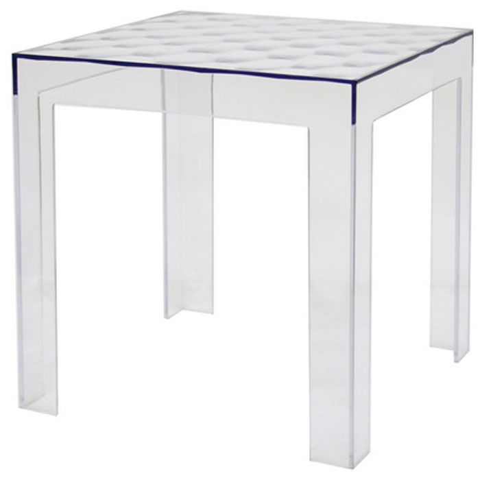 Parq Clear Acrylic Modern End Table (Set of 2) - WI-RT-637