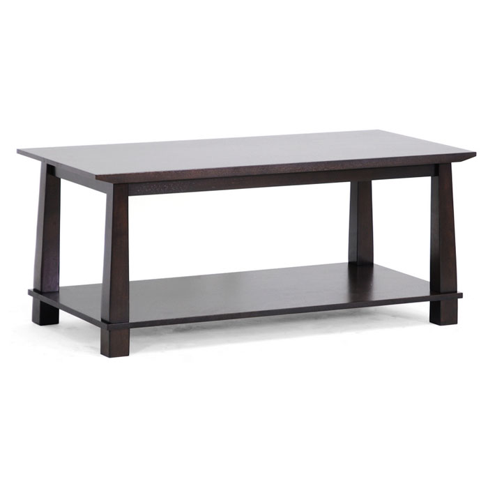 Havana Brown Wood Modern Coffee Table