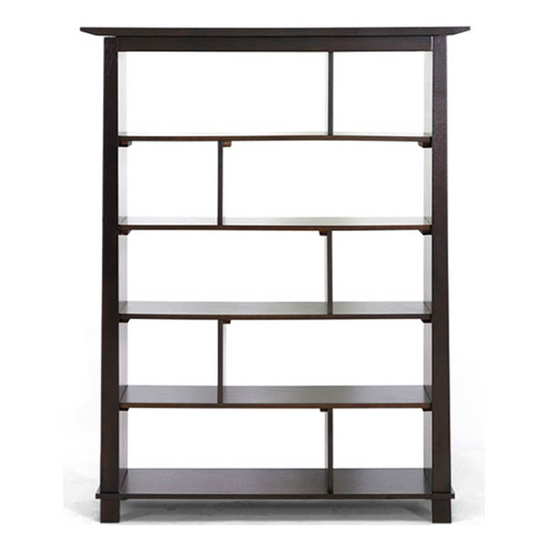 Havana Brown Wood Modern Bookcase - Tall