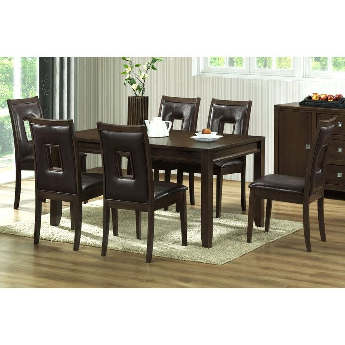 New Jersey 7 Piece Brown Wood Dining Set DCG Stores : rt169 dining set from www.dcgstores.com size 700 x 700 jpeg 69kB