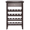 Atlanta 4-Shelf Wine Rack - Drawer, Removable Tray, Dark Brown - WI-RT192-OCC