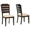 Victoria 7 Pieces Dining Set - Extension Leaf, Cappuccino, Beige Fabric - WI-RT201-DINING-SET