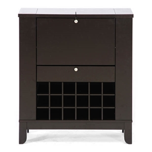 Modesto Brown Modern Wine Cabinet