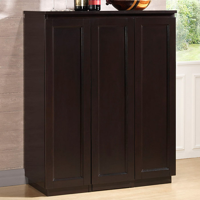 Baltimore Wooden Bar Cabinet - Wenge, Sliding Vertical Storage
