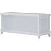 Swiss Shoe Storage Seating Bench - Taupe, White - WI-RT350-OCC-WHITE