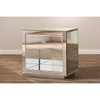 Melanie Nightstand - Silver Mirrored, 1-Drawer and 1-Shelf - WI-RXF-646
