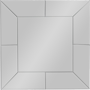 Gerard Square Accent Wall Mirror - Silver