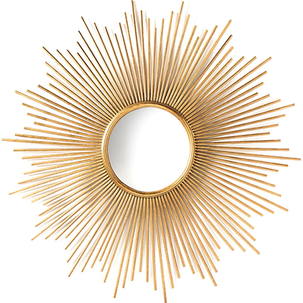 Lambert round accent wall mirror gold dcg stores for Accent wall mirrors