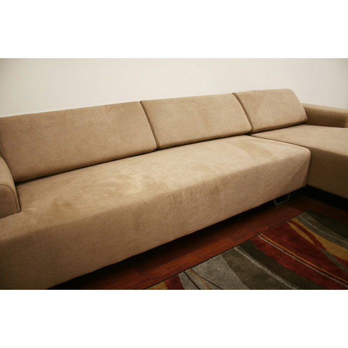 Melina Tan Sectional and Chaise with Adjustable Backrests - WI-S-523-E5064-2