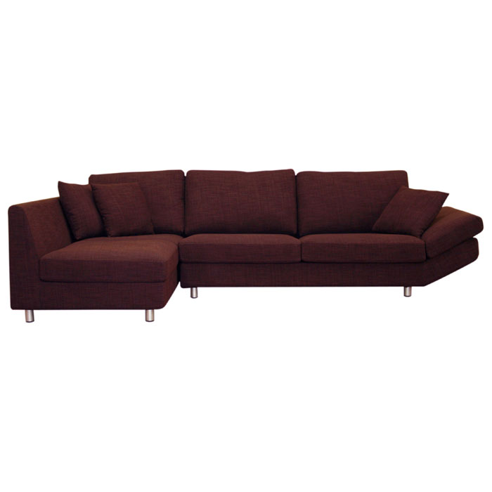 Natalie Deep Plum Fabric Sectional And Chaise