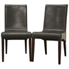 Samantha Dark Brown Leather Dining Chair - WI-SAMANTHA-DC-107-560