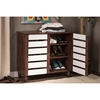 Gisela 2 Doors Shoe Cabinet - Oak and White - WI-SC865512-DIRTY-OAK