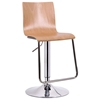 Lynch Swivel Bar Stool - Molded Plywood, Natural Veneer - WI-SD-2121-NATURE-PSTL