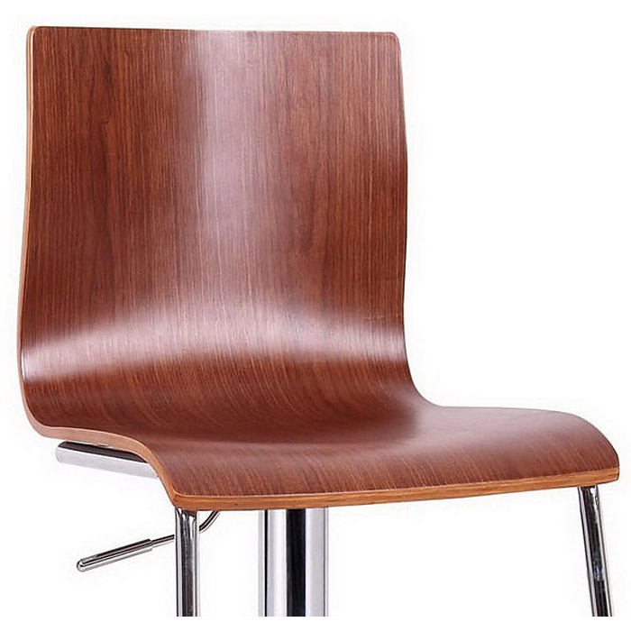 Lynch Swivel Bar Stool Molded Plywood Walnut Veneer