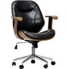 Rathburn Swivel Office Chair - Black, Walnut Brown - WI-SD-2235-5-WALNUT-BLACK