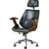 Hamilton Swivel Office Chair - Walnut, Black - WI-SDM-2378-1-WALNUT-BLACK-OC