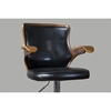Hamilton Swivel Bar Stool - Walnut, Black - WI-SDM-2383-WALNUT-BLACK-BS