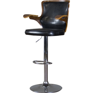 Hamilton Swivel Bar Stool - Walnut, Black