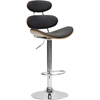 Modana Swivel Bar Stool - Walnut and Black - WI-SDM2321-WALNUT-BLACK-BS