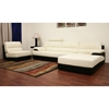 Juliana Cream Leather 3-Piece Set with Chaise - WI-SF9641B