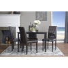 Somerset 5-Piece Dining Set - Button Tufted, Dark Brown - WI-SHAPE-PARSON-5PC-DINING-SET