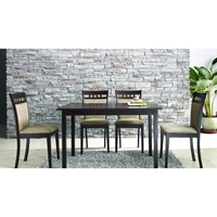 Stockton 5 Piece Dining Set in Dark Brown and Taupe
