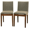 Moira Modern Dining Chair - Hazel Upholstery, Cocoa Legs - SQUARE-DINING-CHAIR-109-670