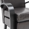Iringa Lounge Chair - Black Curved Arms, Dark Brown Upholstery - WI-SS-04-DARK-BROWN