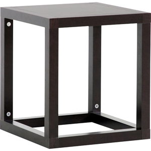 Hallis Square Accent Table - Dark Brown