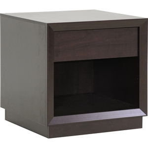 Girvin 1 Drawer Nightstand - Dark Brown