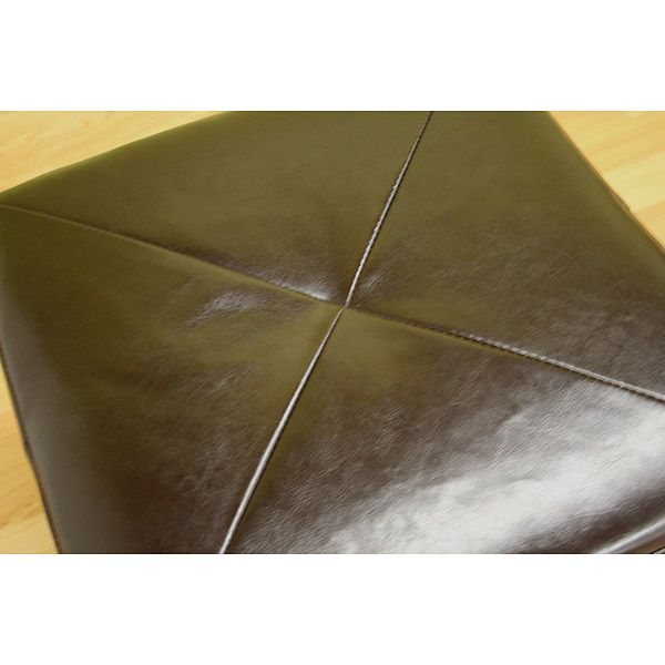 Soho Bonded Leather Ottoman - WI-ST-20-BR-OTTOMAN