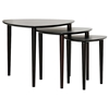 Griffith Wooden Nesting Tables Set - Wenge, Rounded Triangle Top - WI-ST601-WENGE-AT