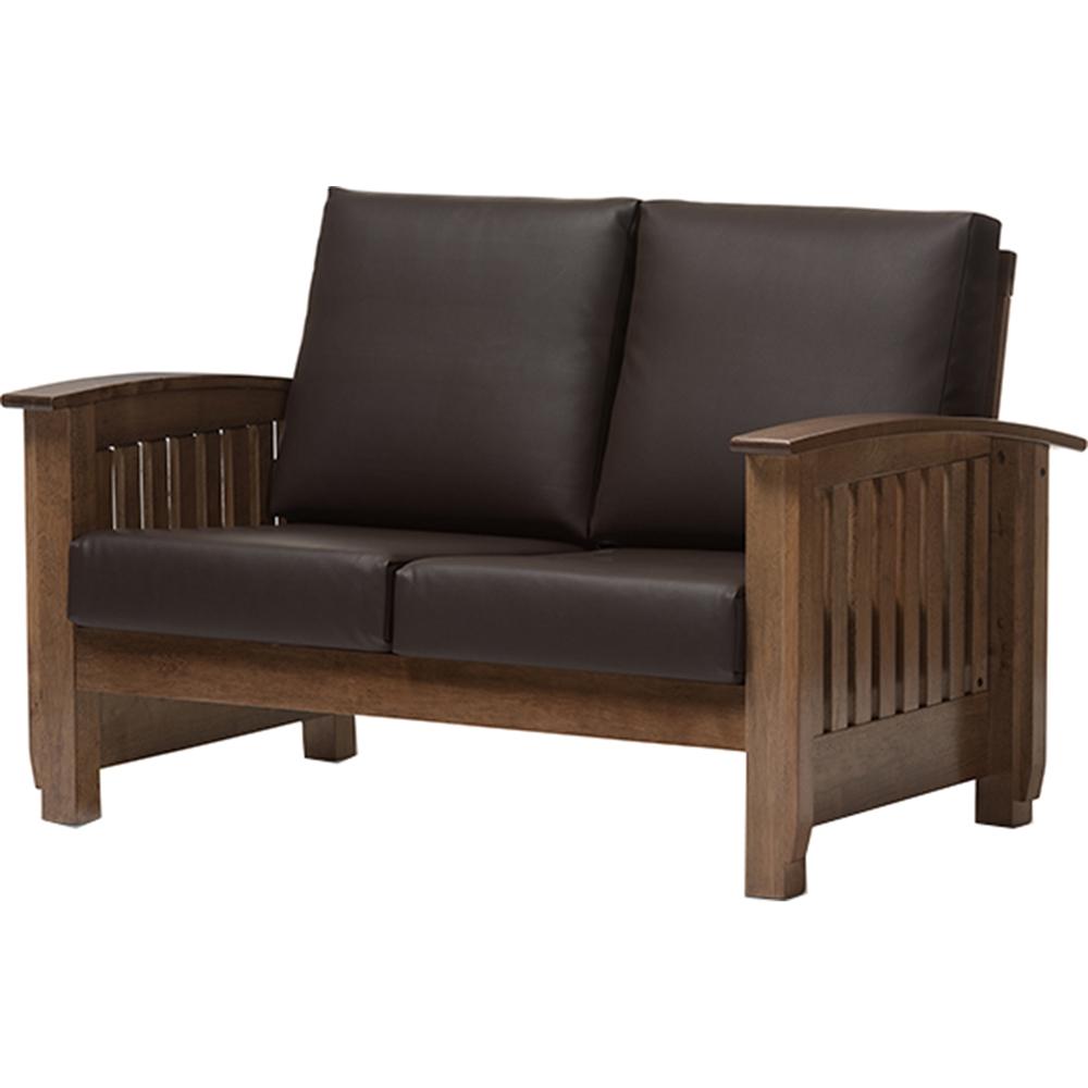 charlotte 5 piece faux leather living room set dark