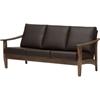 Pierce Faux Leather Sofa - Dark Brown, Walnut Brown