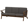 Cayla Living Room Sofa - Gray, Walnut Brown - WI-SW5236-GRAY-WALNUT-M17-SF