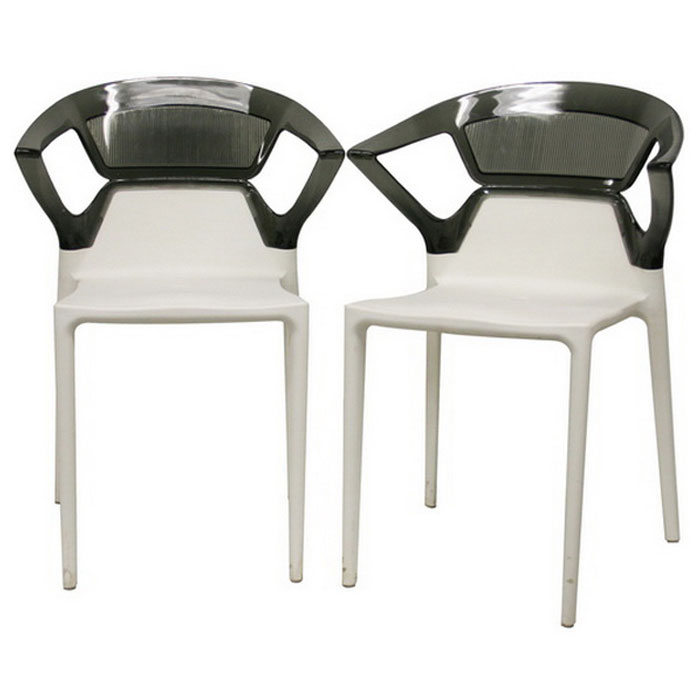 Swap Stackable Two Toned Plastic Dining Chair Dcg Stores