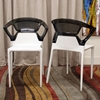 Swap Stackable Two-Toned Plastic Dining Chair - WI-SWAP-AC-X