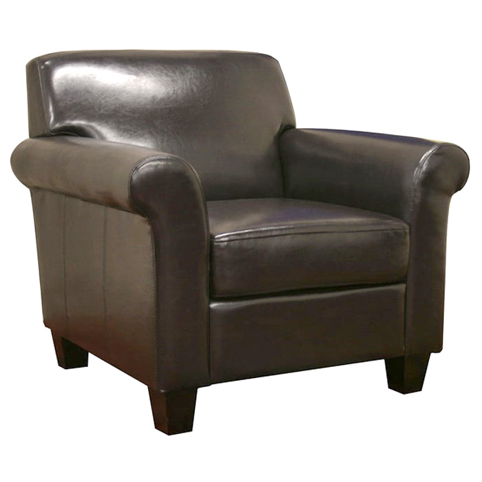 Atticus Black-Brown Modern Club Chair - WI-TA1364