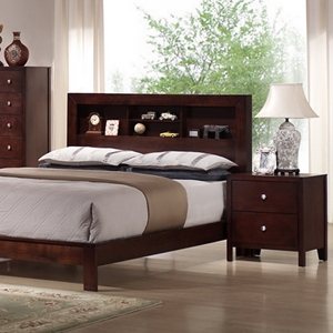 Montana 5-Piece Queen Bedroom Set - Bookcase Bed, Mahogany
