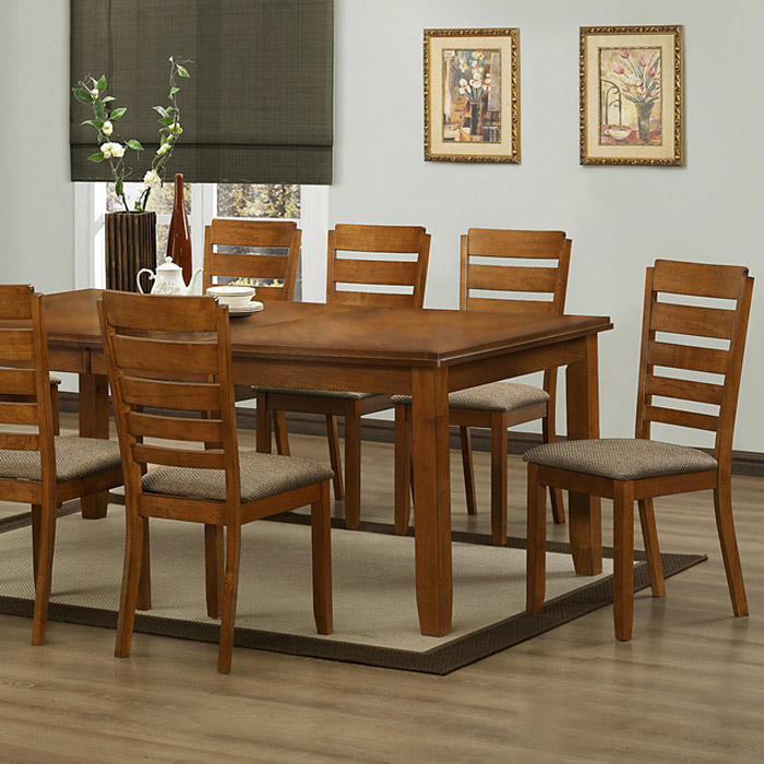 Taylor 7-Piece Dining Set - Extension Table, Ladder Back Chairs - WI-TAYLOR-7-PC-DINING-SET