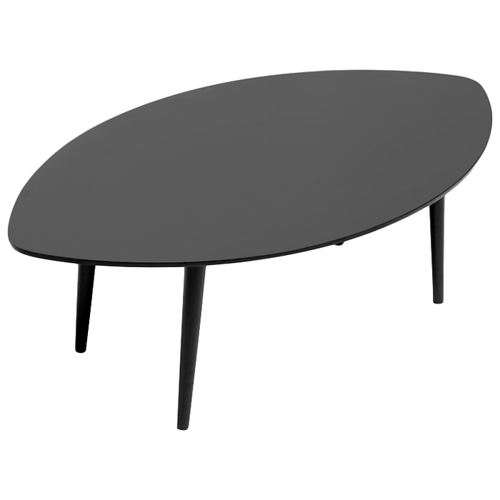 ... Griffith Wooden Coffee Table   Wenge, Leaf Shaped Top   WI TB807