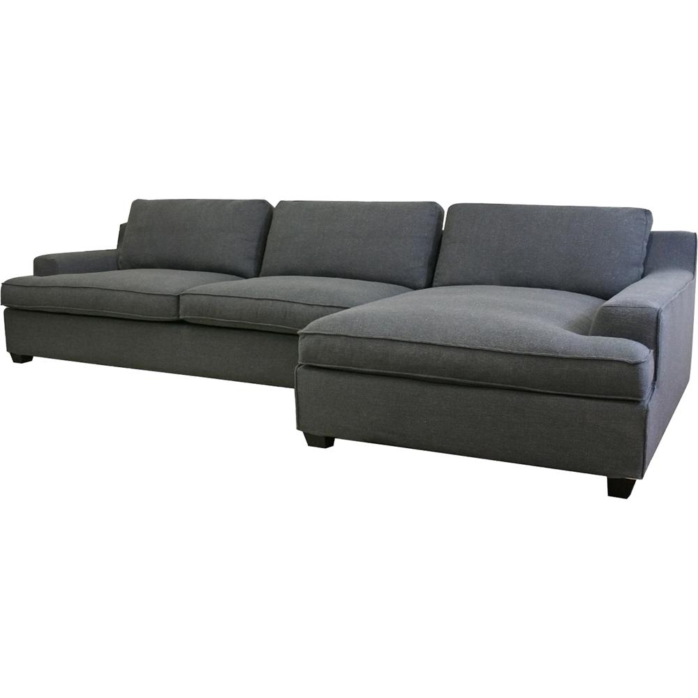 alcoa fabric modular sectional sofa gray dcg stores