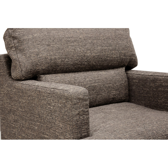 Tully 3-Piece Sofa Set - Brown Twill Fabric, Tapered Wood Legs - WI-TD1906A-3-PIECE-SOFA-SET