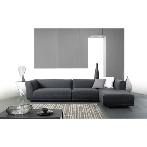 Fairbanks Upholstered Sectional Sofa Gray Dcg Stores