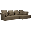 Abbott Right Facing Sectional Sofa - Brown - WI-TD4905-RFC-LT-BROWN