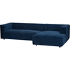 Acuff Right Facing Sectional Sofa - Blue